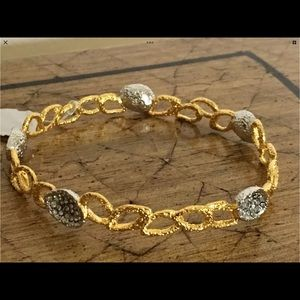 Alexis Bittar gold crystal bangle bracelet NWT